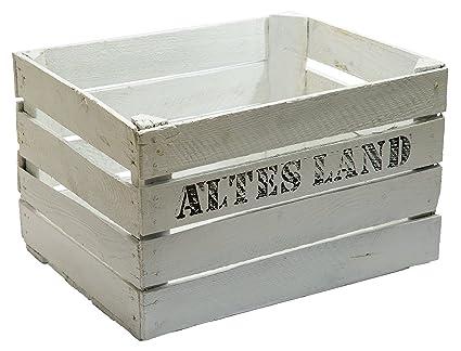 """4 pcs fabricado en madera maciza cajas - blanco """"TURBANSCY""""/Caja para"""