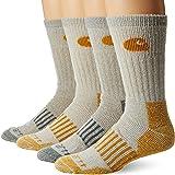 Carhartt mens 4 Pack Thermal Wool Blend Boot Sock