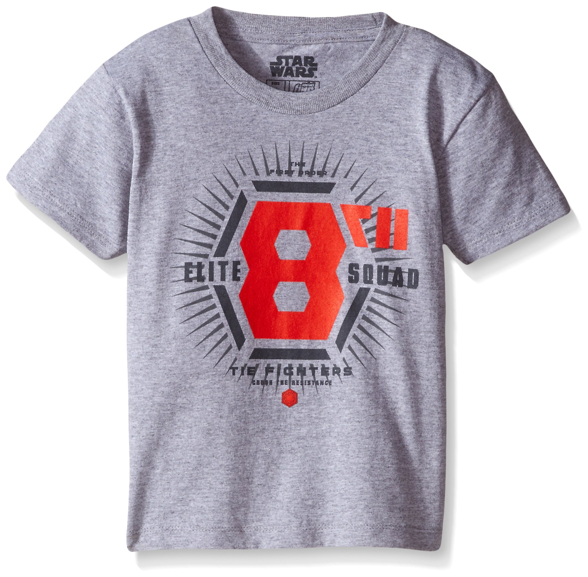 Star Wars Little Boys' T-Shirt, Grey Logo, 4