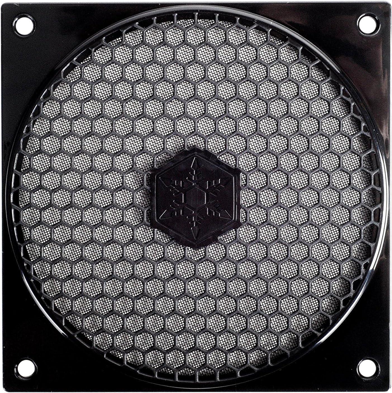 SilverStone SST-FF121B - Rejilla para ventilador de 120mm y filtro de polvo, negro
