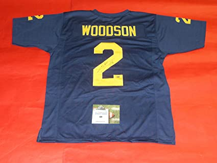 size 40 9b045 cab20 CHARLES WOODSON AUTOGRAPHED MICHIGAN WOLVERINES JERSEY AASH UM HEISMAN
