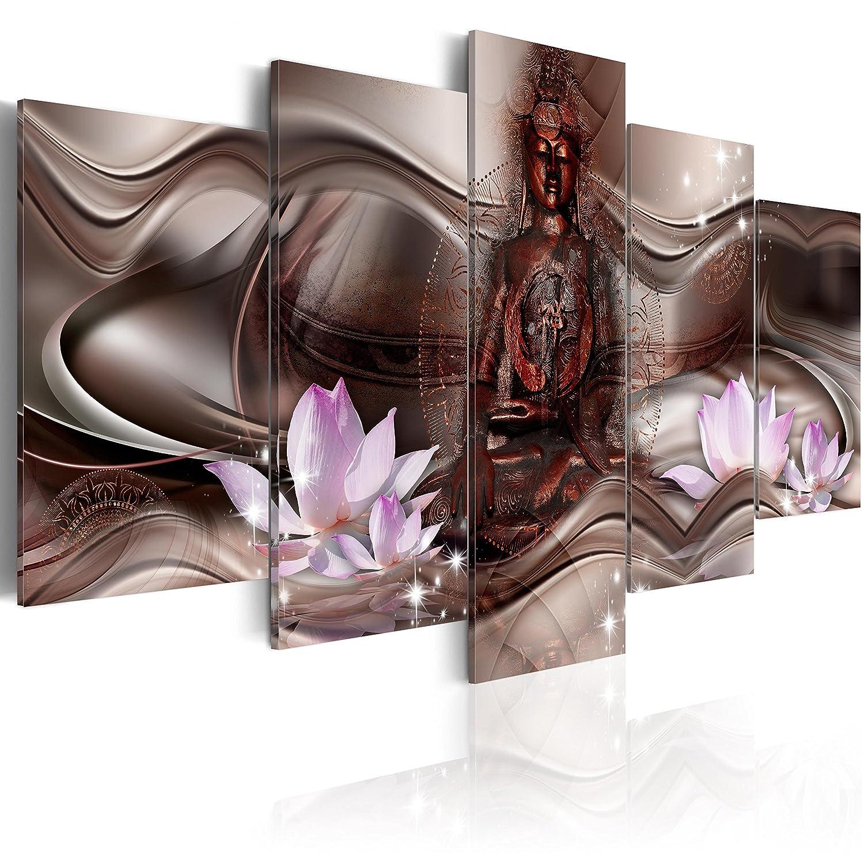 murando Quadro 100x50 cm Stampa su Tela in TNT XXL Immagini Moderni Murale Fotografia Grafica Decorazione da Parete 5 Pezzi Budda 020113-289
