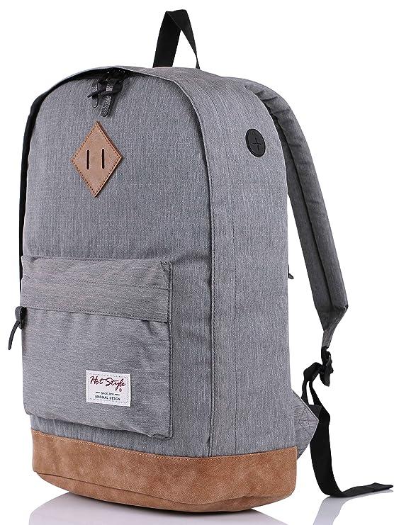 HotStyle 936Plus Daypack Rucksack (26 Liters) mit 15.6 Zoll Laptopfach, Grau