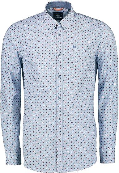 LERROS 2971111 361 - Camisa para Hombre con Cuello de botón, Bolsillo en el Pecho de algodón: Amazon.es: Ropa y accesorios