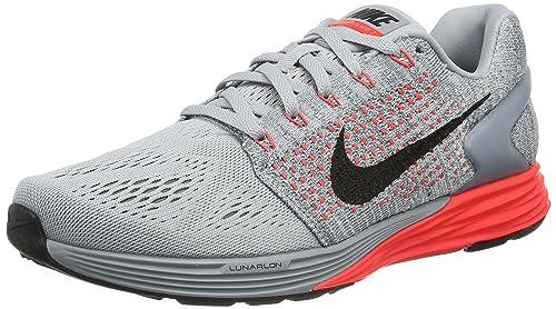 official photos 005a0 01c1f Nike Lunarglide 7, Zapatillas de Running para Hombre, Gris (WLF Blk-Brght  Crmsn-Cl Gry), 41 EU  Amazon.es  Zapatos y complementos