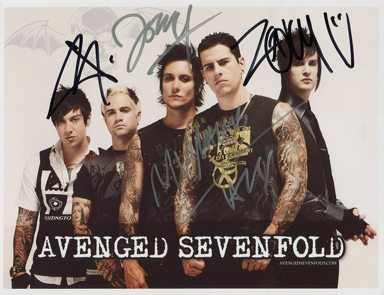 Avenged Sevenfold FULLY SIGNED Photo 1st Generation PRINT Ltd 150 1 Certificate