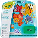 Crayola World Animals Wooden Puzzle & Stamps Set, Perfect Educational Toy for Preschool Education use, Encourages Creativity, 10 Pieces Included