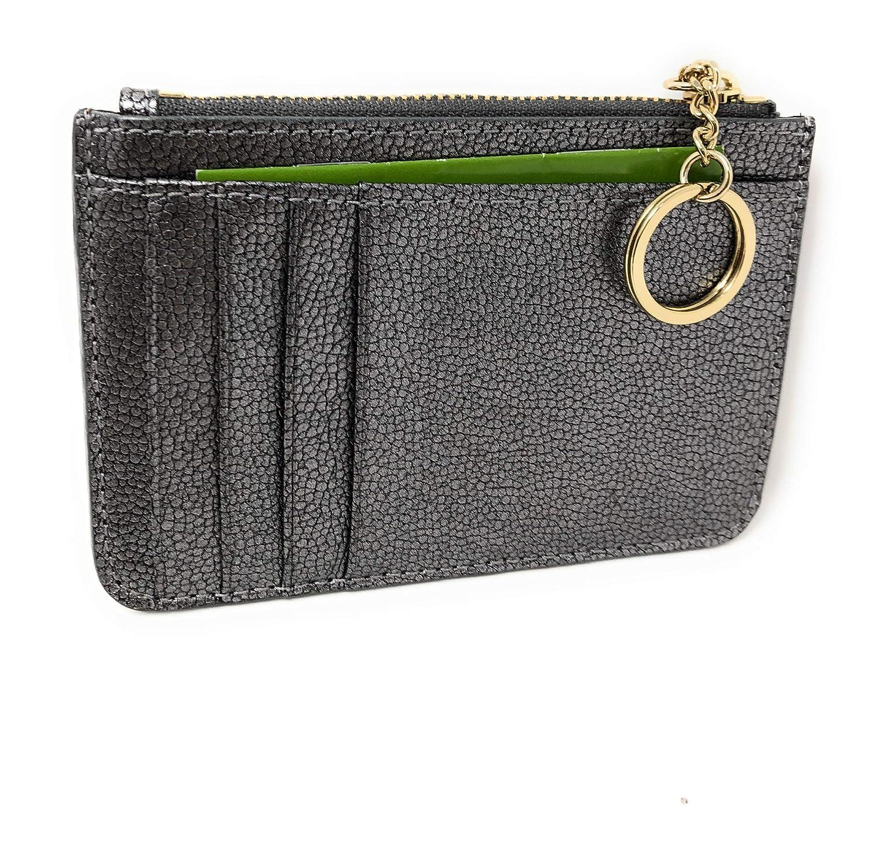 reputable site a9d31 65ec8 Kate Spade New York Laurel Way Bitsy Card Case Wallet Key Ring Glitter  Gunmetal