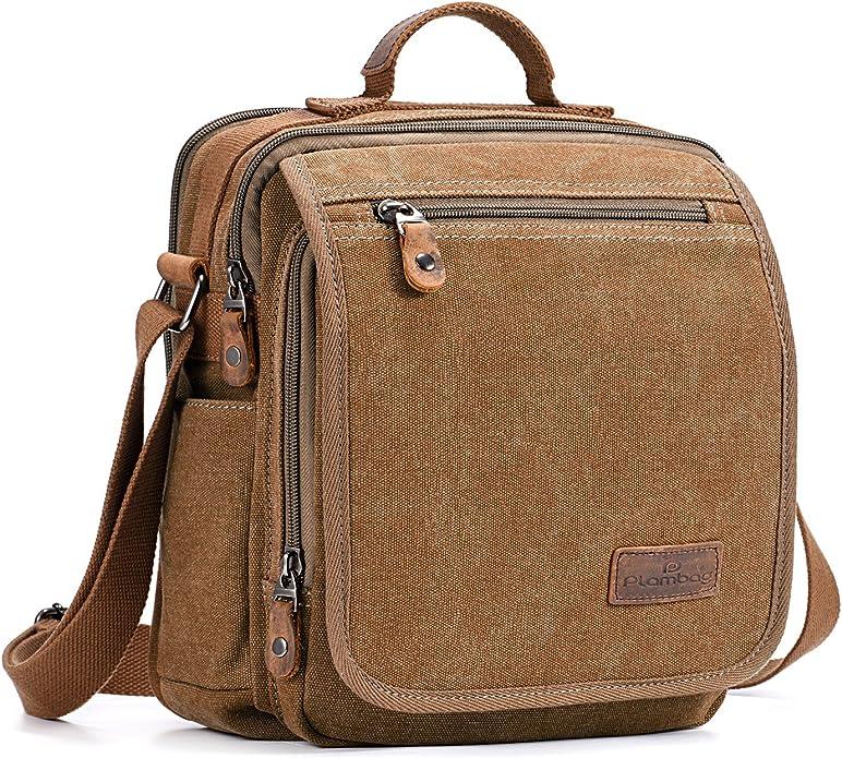 MS00010723 Azeeda Pangolin Cotton Canvas Messenger Bag