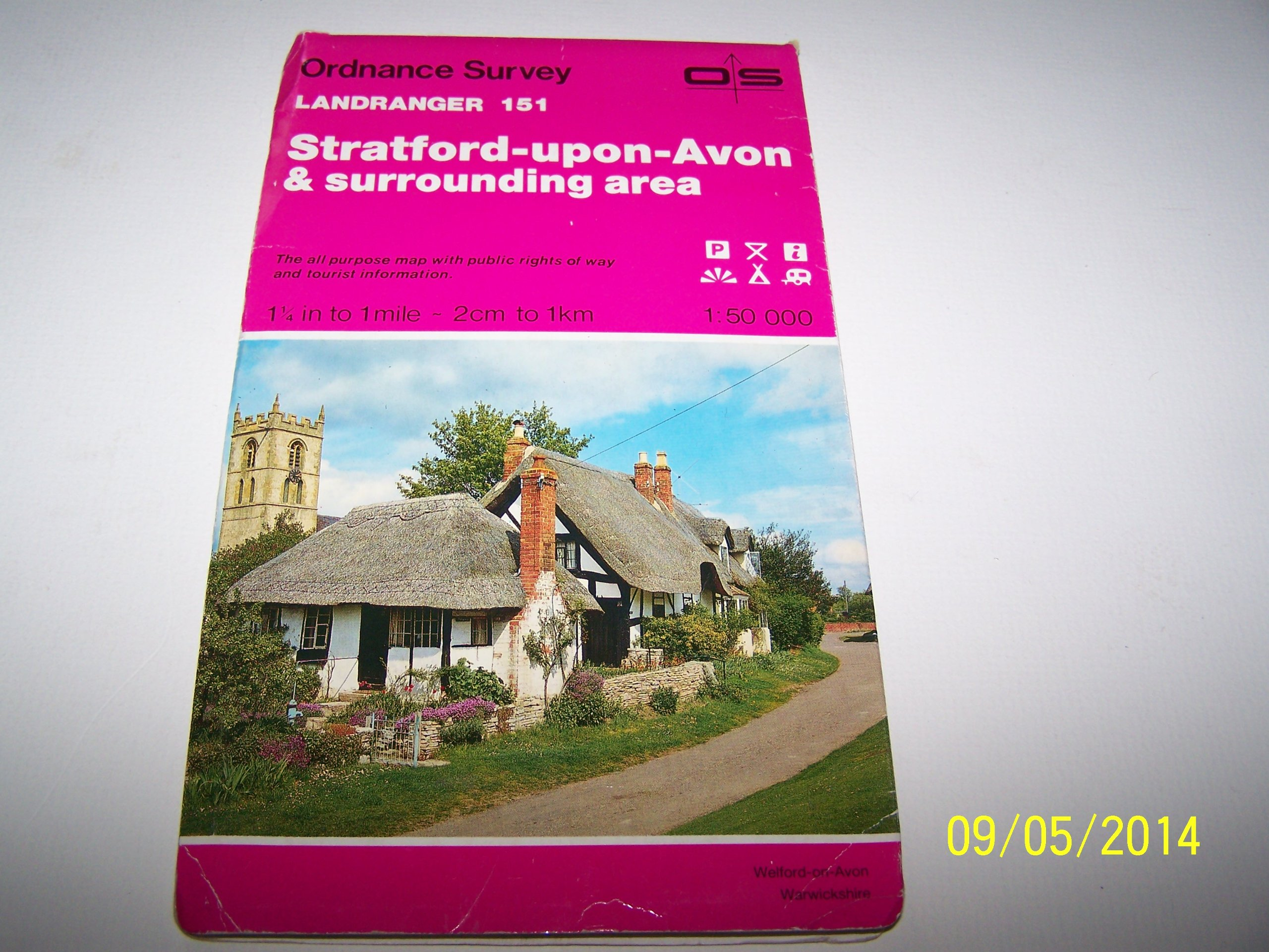 Landranger Maps Stratford Upon Avon And Surrounding Area Sheet 151 OS Map Amazoncouk Ordnance Survey 9780319221518 Books