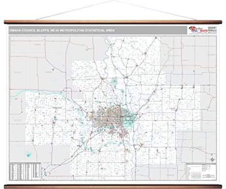 Amazon.com: MarketMAPS Omaha-Council Bluffs, NE Metro Area ... on