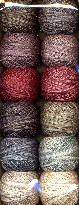 Valdani Size 12 Perle Cotton Embroidery Thread Rainbow Dark Collection PC12-RainbowD