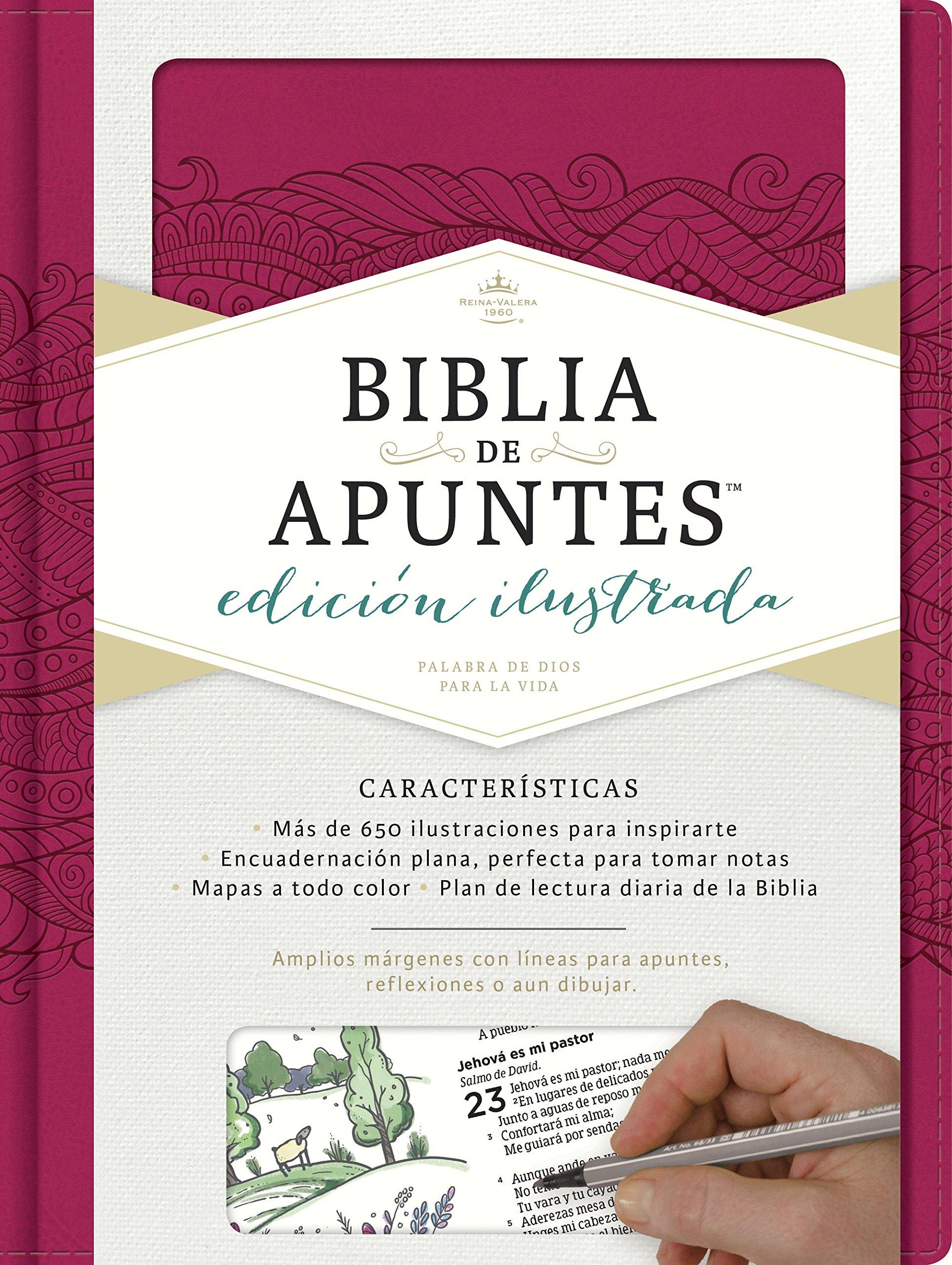 RVR 1960 Biblia de apuntes, edición ilustrada, símil piel rosado (Spanish Edition): B&H Español Editorial Staff: 9781462746477: Amazon.com: Books