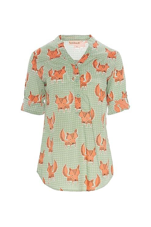 Traka Barraka Bilbao, Camisa para Mujer, (Zorro Naranja), 44 (Tamaño del Fabricante:XL): Amazon.es: Ropa y accesorios