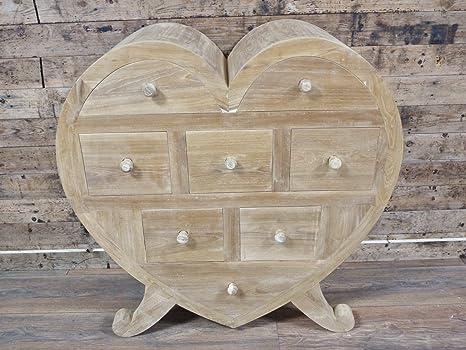 Armadio Shabby Chic On Line : Cuore grande in legno stile shabby chic armadio con cassetti: amazon
