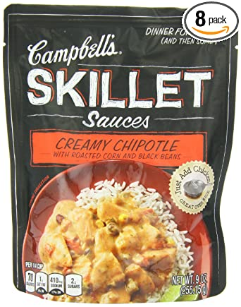 Amazon Com Campbell S Skillet Sauces Fire Roasted Tomato Red Pepper And Chiles 9 Ounce Pouches Pack Of 8 Marinades And Seasoning Mixes Grocery Gourmet Food