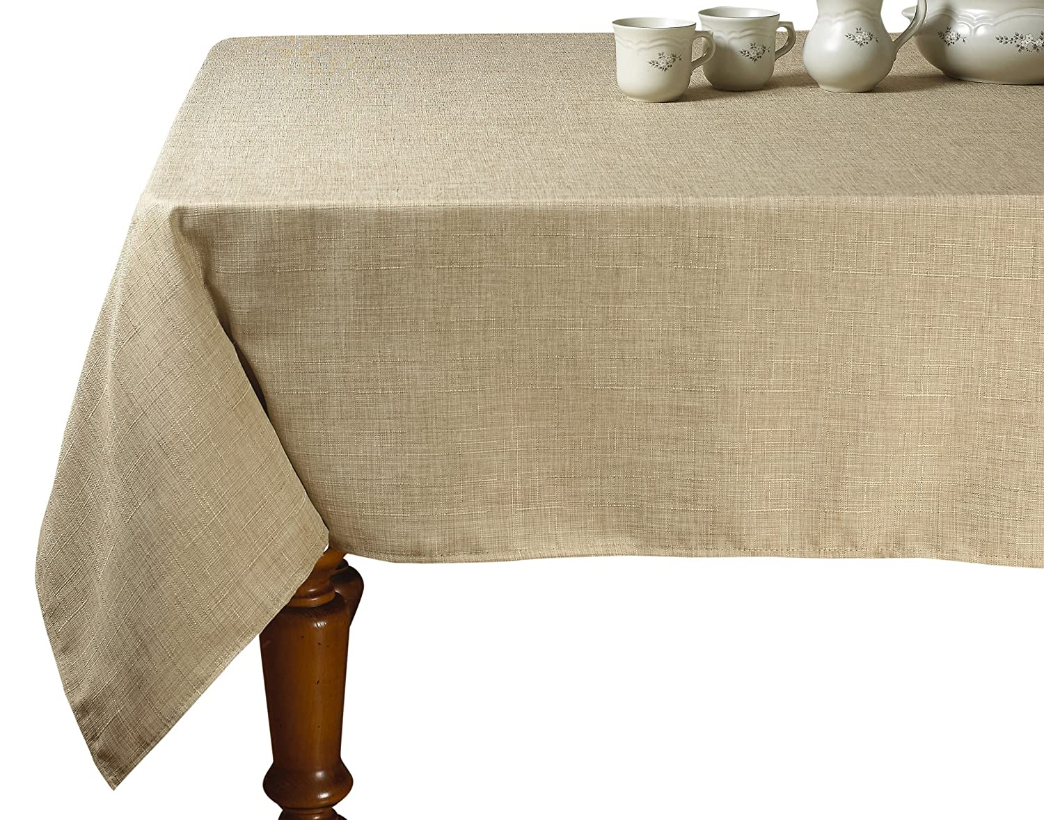 Violet Linen Euro Vintage Design Oblong/Rectangle Tablecloth, 54 x 72, Cranberry 54 x 72 EURO LINEN CB-2