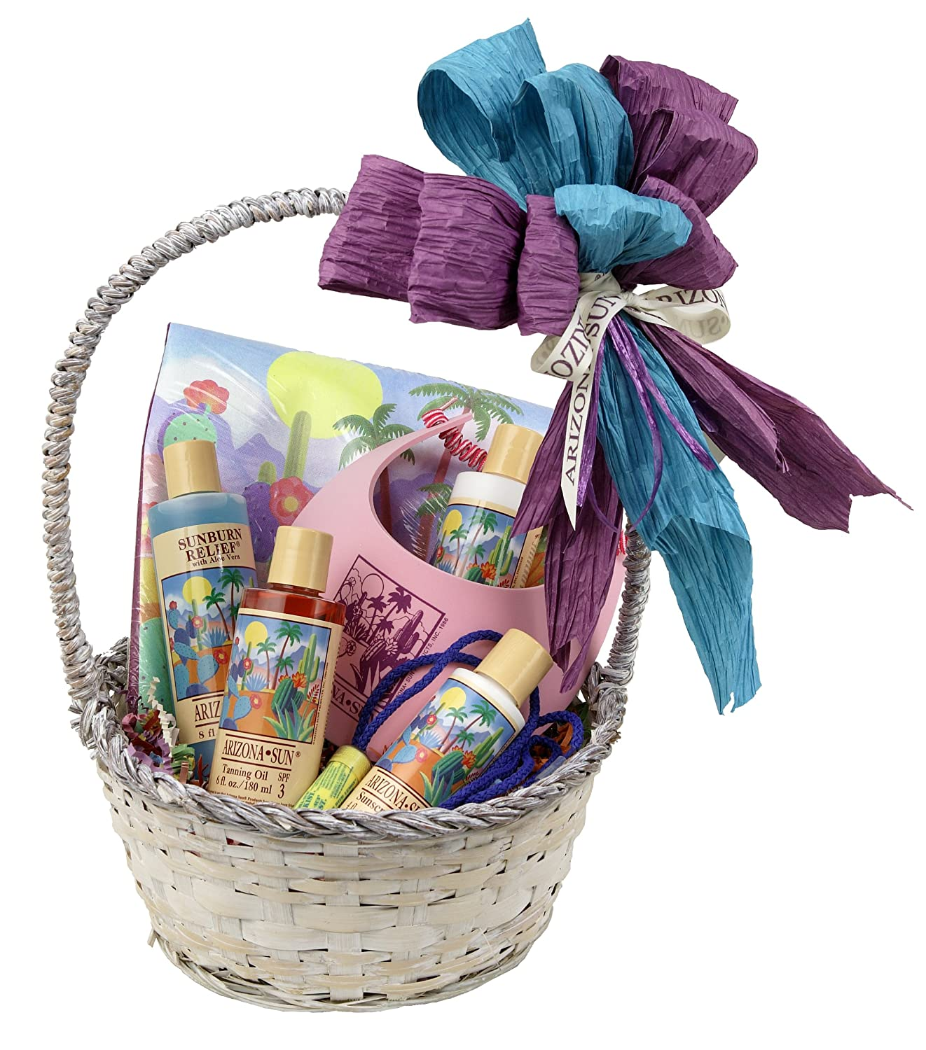 B00061YUQS Arizona Sun Cruise and Resort Gift Basket – Say Bon Voyage – Have a Great Trip Gifts – Everything Needed for Vacation – Soothing Skin Care – Sun Care Protection – Any Occasion - Birthday 915O5FXOV0L._SL1500_.