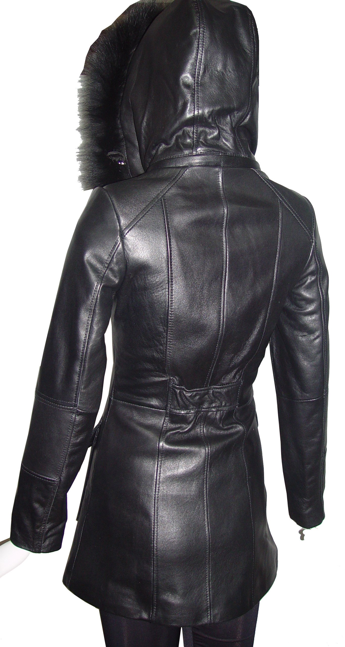 Paccilo 4 Season Wear Womens 4177 PETITE & ALL SIZELambskin Leather Parka Jacket by Paccilo (Image #7)