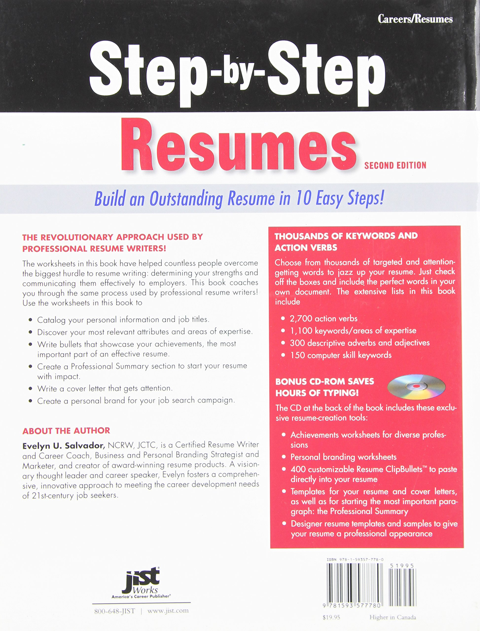 Step By Resumes Build An Outstanding Resume In 10 Easy Steps 2nd Ed Evelyn U Salvador 9781593577780 Amazon Books