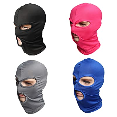 Pack of 4 Winter Thin Ski Mask Men Hat 3 Hole Windbreak CS Headgear Outdoor Tactic Sun Balaclava Cap Motorcycle Hunting Mask: Automotive
