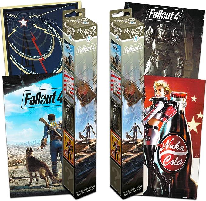 Fallout 4 Póster Mystery calcomanía Set ~ El Paquete Incluye 4 Peel and Stick Fallout calcomanía de Pared Póster Decoración de la habitación (decoración de la habitación): Amazon.es: Juguetes y juegos