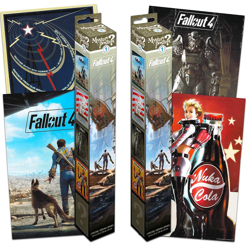 Fallout 4 Póster Mystery calcomanía Set ~ El Paquete Incluye 4 ...