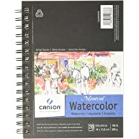 Canson 400059878 Artist Series Montval Watercolor Paper Pad, Heavyweight Cold Press and Micro-Perforated, Side Wire…