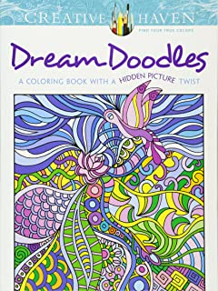 creative haven dream doodles a coloring book with a hidden picture twist adult coloring - Art Nouveau Coloring Book