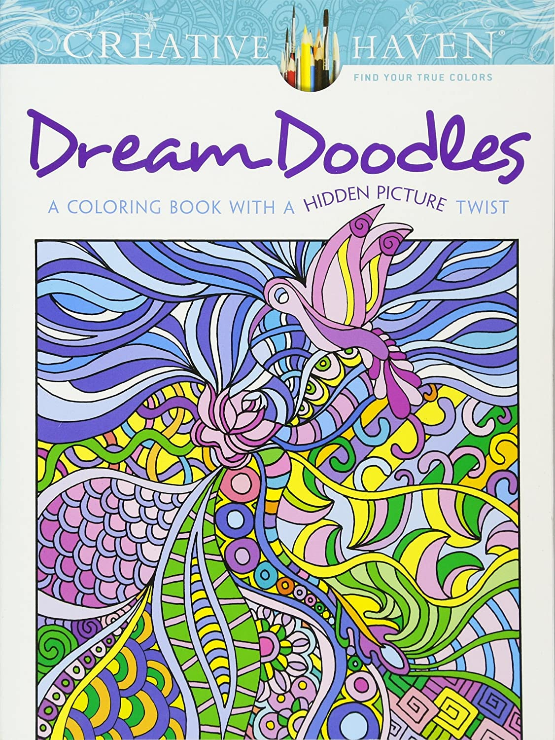 Lotus designs coloring book - Amazon Com Creative Haven Dream Doodles A Coloring Book With A Hidden Picture Twist Adult Coloring 0800759799022 Kathleen G Ahrens Books