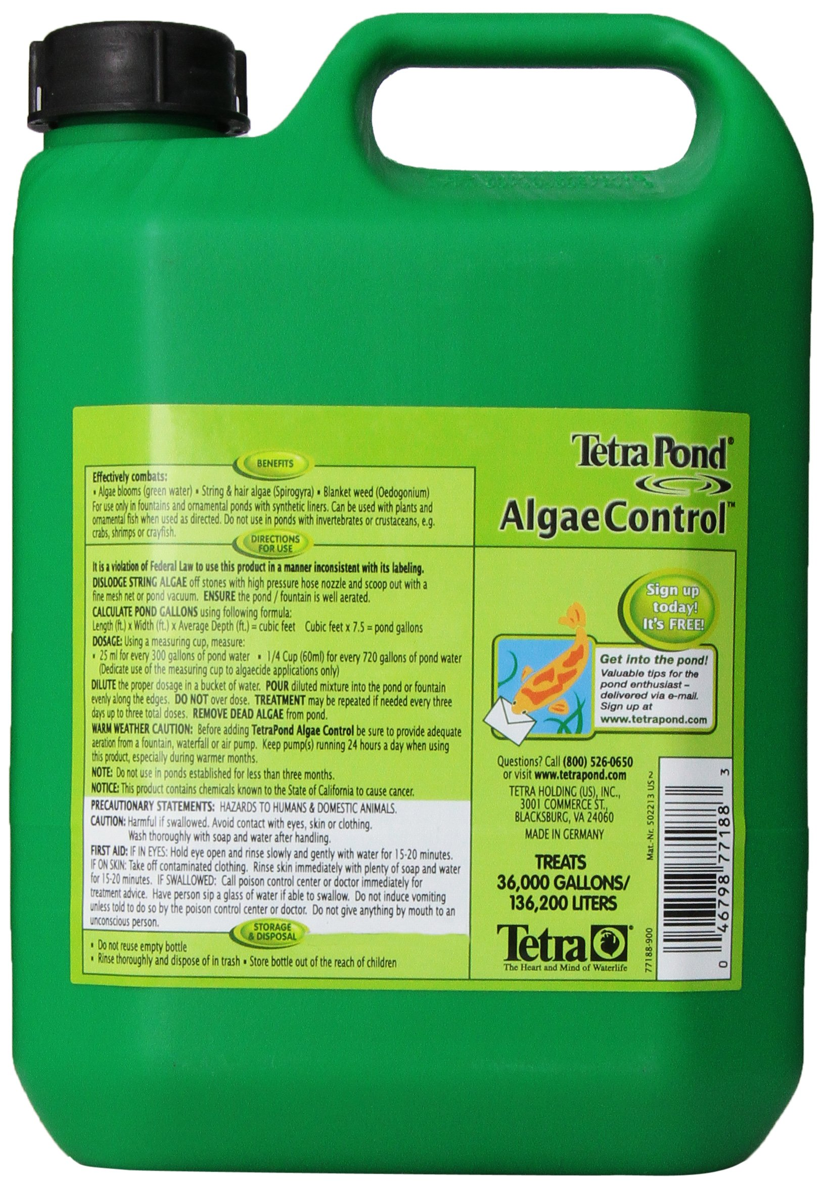 Tetra 77188 Algae Control Treats 36000 gallons, 101.4-Ounce by Tetra Pond