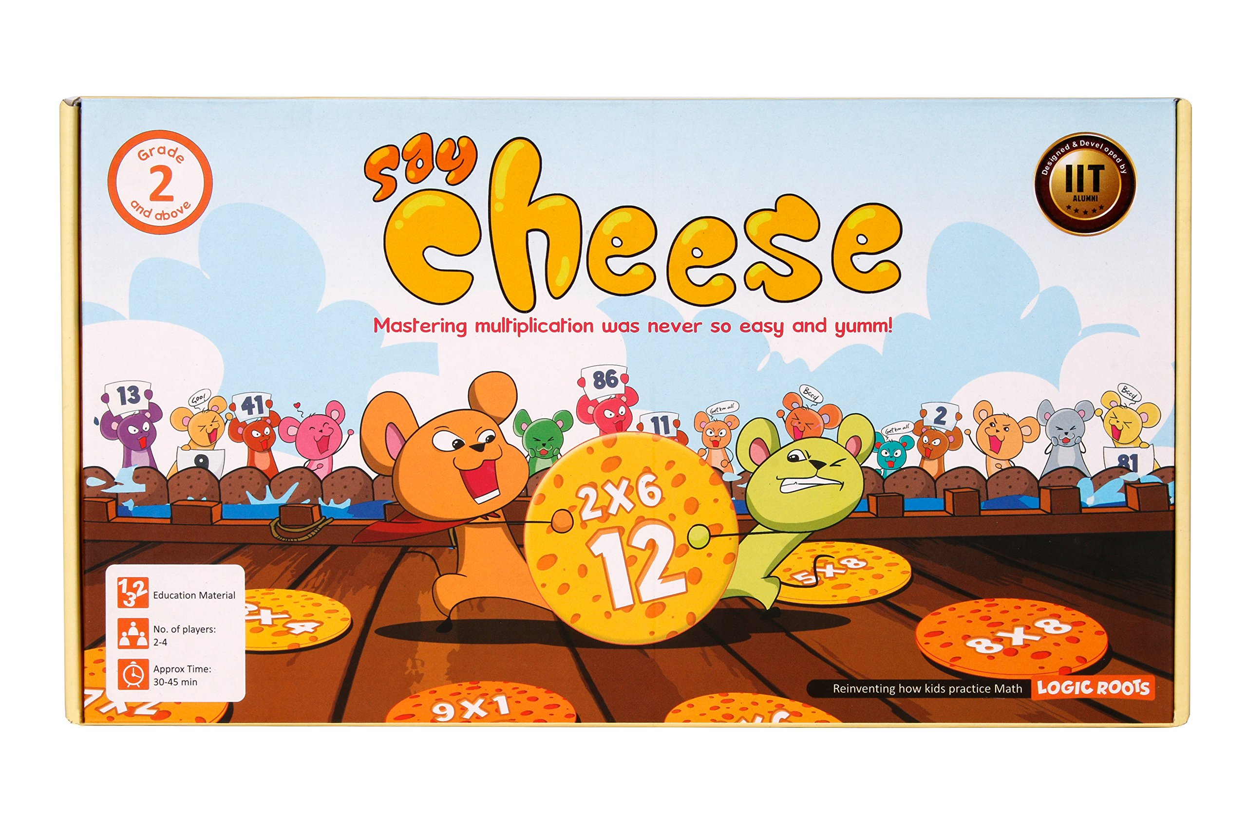 SAY CHEESE – Math Board Game for Kids to master Multiplication Tables, best Summer STEM Gift for boys and girls