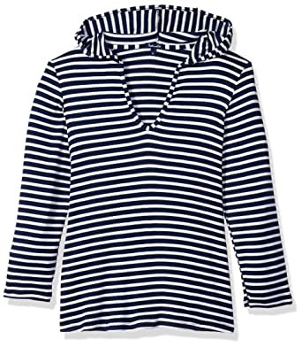 cf403fac8b Amazon.com: Splendid Big Girls' Hooded Tunic Swimsuit Cover Up: Clothing
