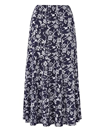 33d9924a186 JD Williams Womens Plain Jersey Panelled Skirt  Amazon.co.uk  Clothing