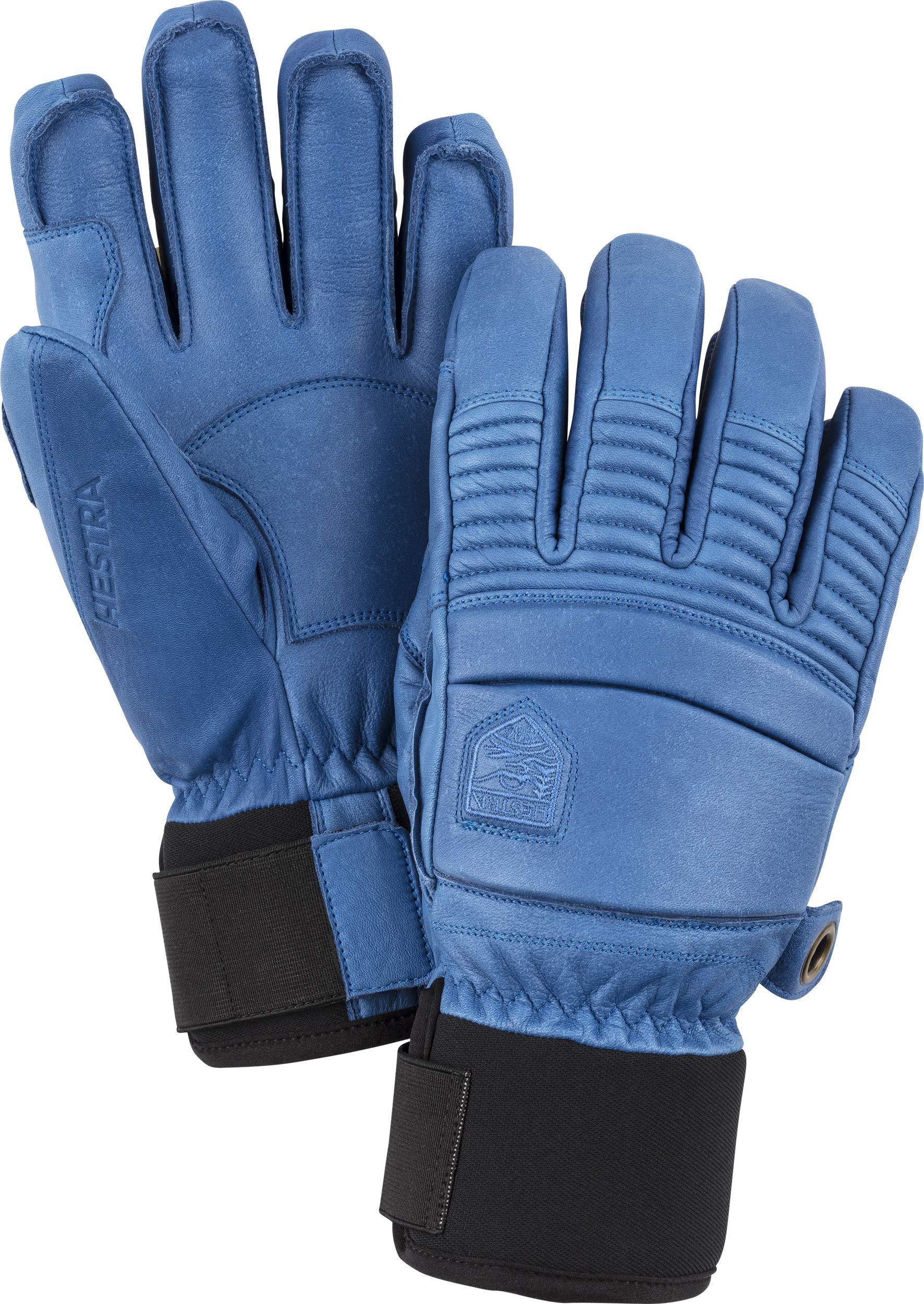 Hestra Men's Leather Fall Line 5 Finger Gloves - Royal Blue - 8 by Hestra