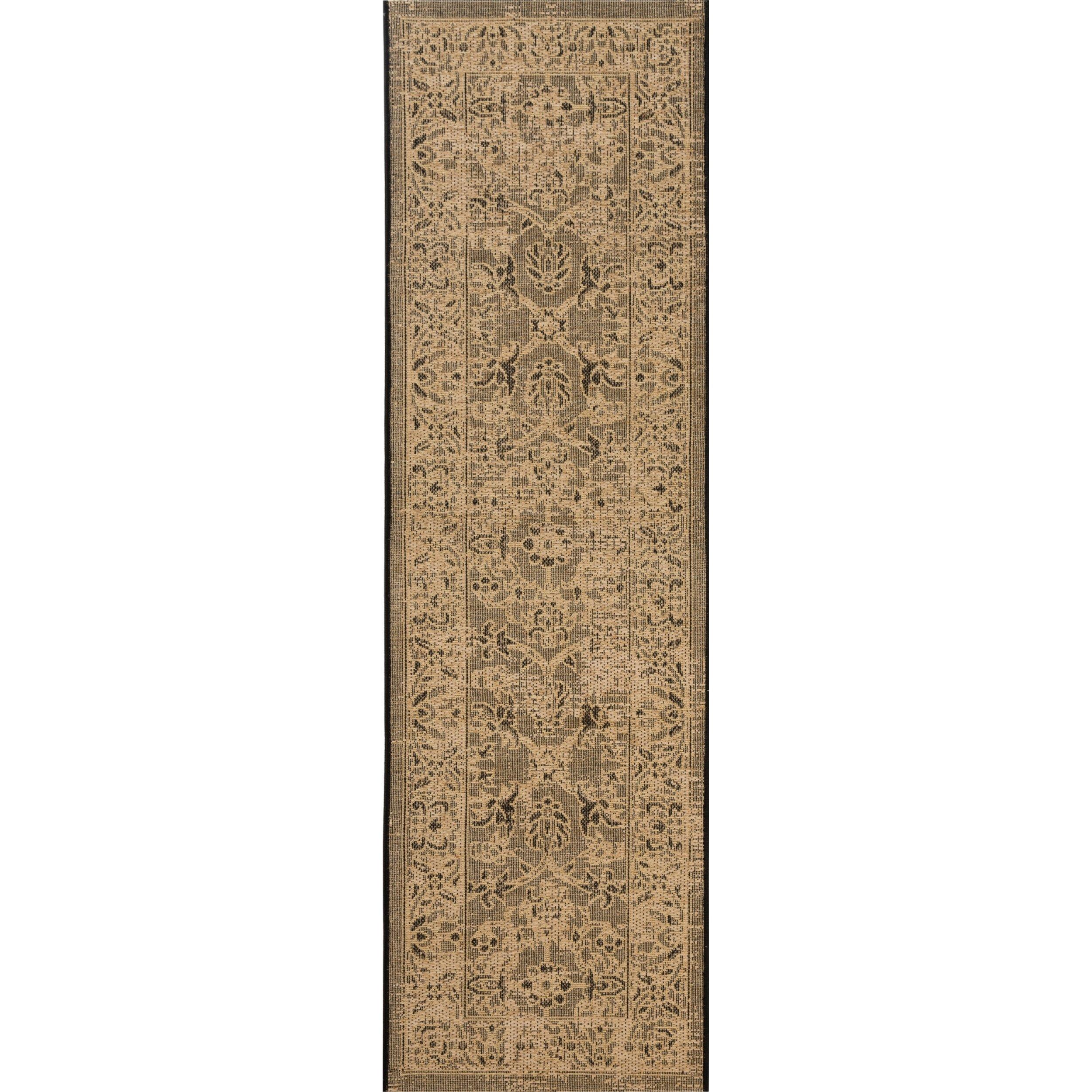 Safavieh Palazzo Collection PAL133-16211 Black and Cream Runner (2' x 7'3'')