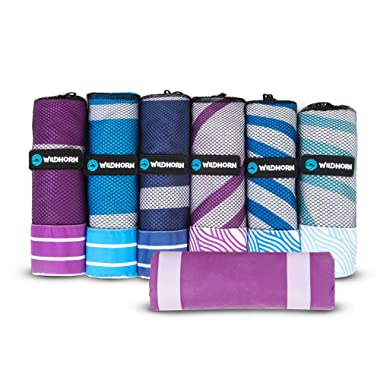Akumal Microfiber Beach Towel. Quick dry travel towel, ultra compact, extra absorbent and XL size (78 in. x35 in.). Great for beach trips, pool, and camping. Travels better than cotton beach towels.