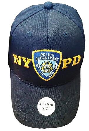 junior kids baseball hat police department new york navy blue boys official nypd cap hatzolah