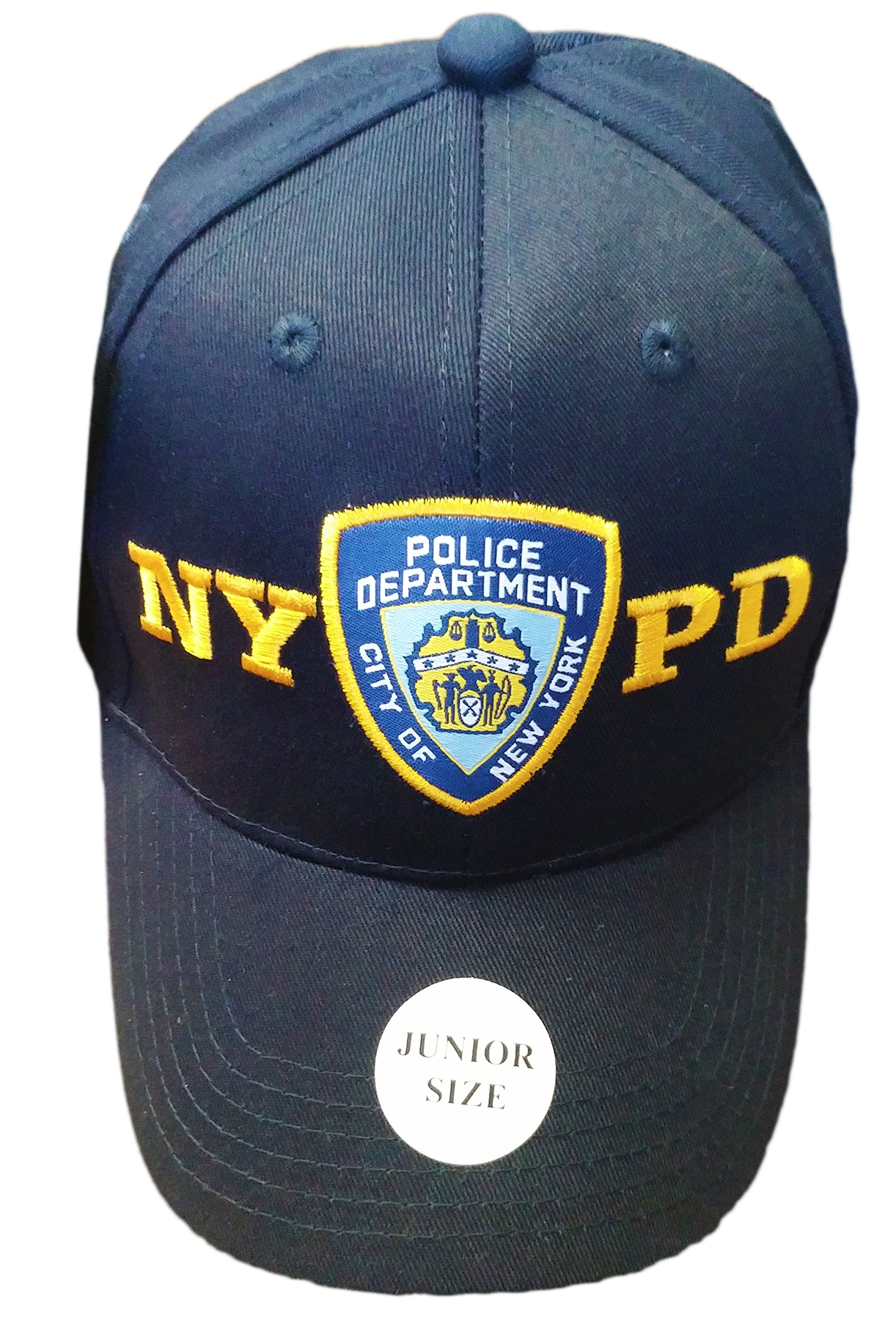 afc8e3ff2bc Amazon.com  NYC FACTORY NYPD Junior Kids Baseball Hat Police Department of  New York Navy Blue Boys  Clothing