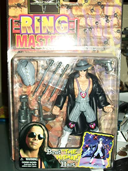 Amazon Com Wcw Ring Masters Bret The Hitman Hart By Toy Biz Toys Games