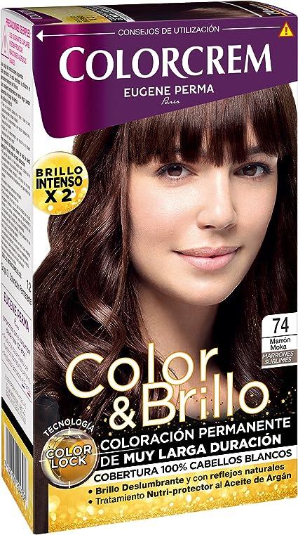 COLORCREM tinte Marrón Moka Nº 74 caja 1 ud: Amazon.es: Belleza