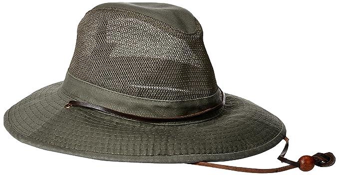 d74e93c070f Dorfman Pacific Co. Men s Garment Washed Twill Safari with UV Mesh ...