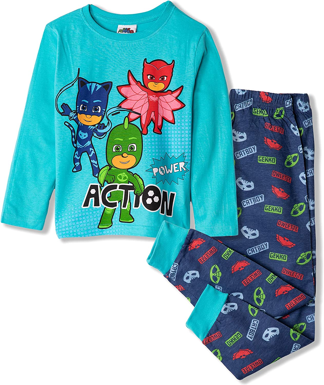 and Trousers//Shorts Gekko Catboy Owlette PJ MASKS Disney Licensed Boys Girls Long or Short Sleeve 100/% Cotton Pyjamas Set Pajamas Top