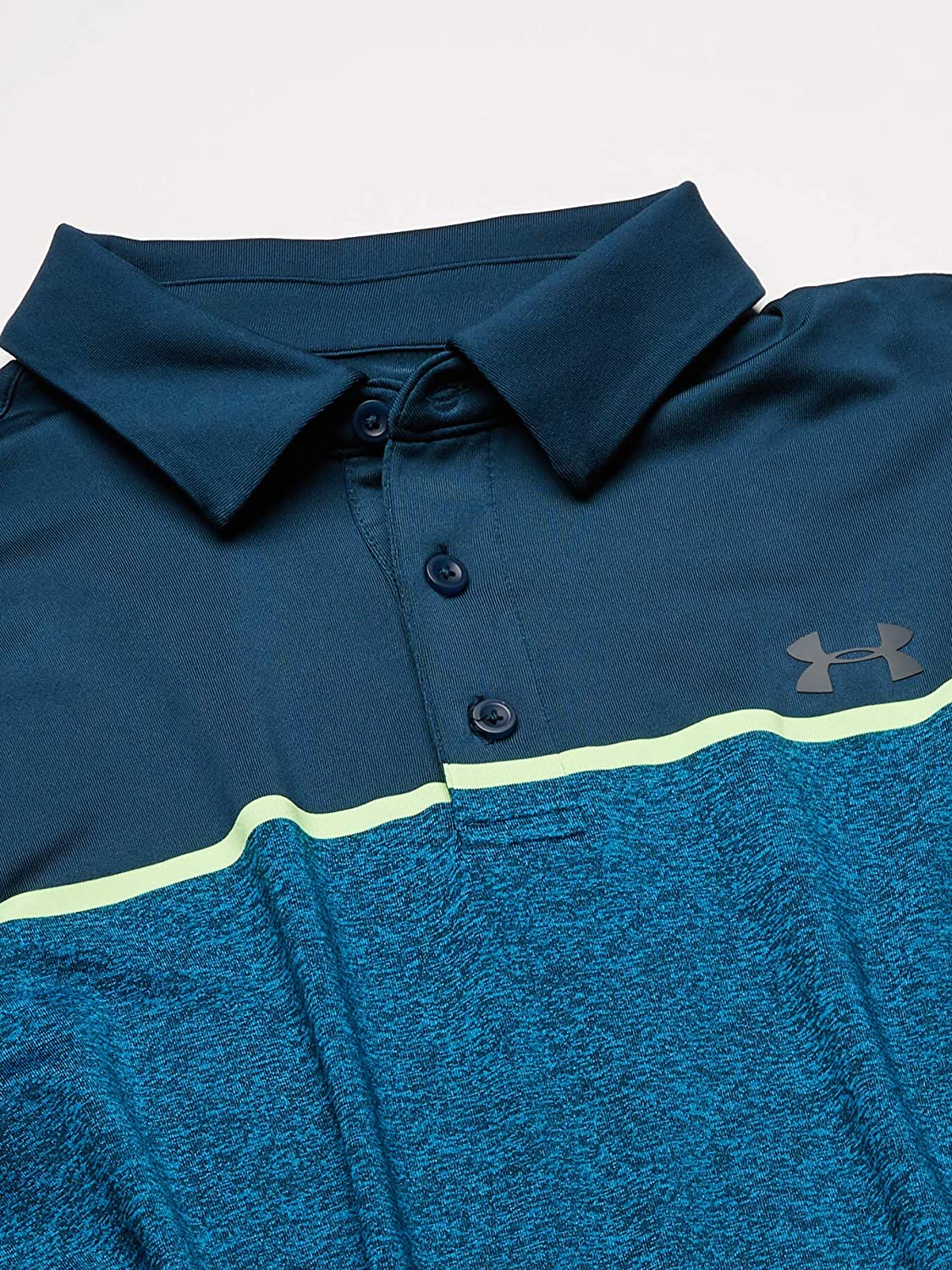 Blue XL Short Sleeve Polo Shirt with Sun Protection Under Armour Mens Playoff 2.0 T