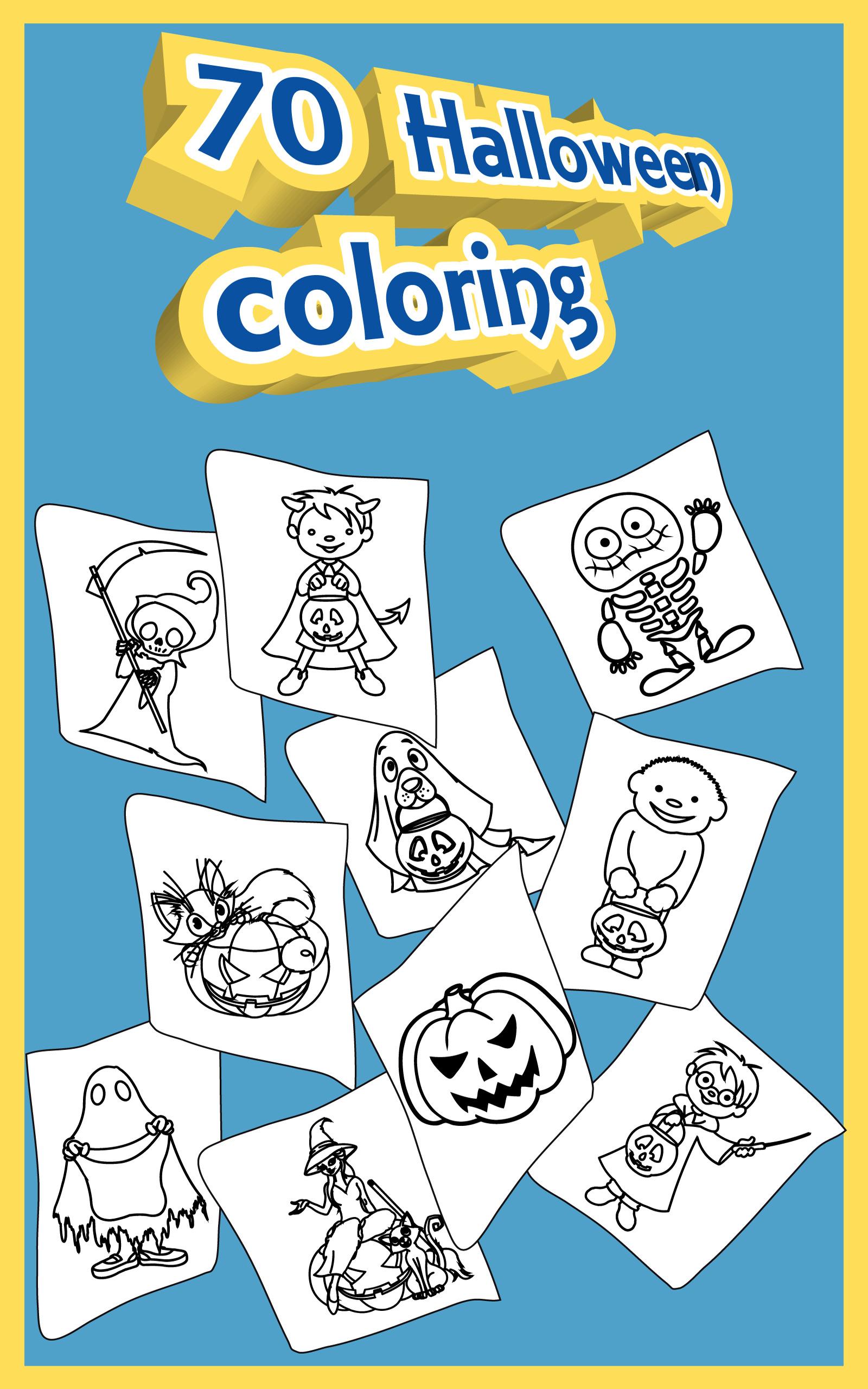 Dibujos para colorear para niños de Halloween: Amazon.es