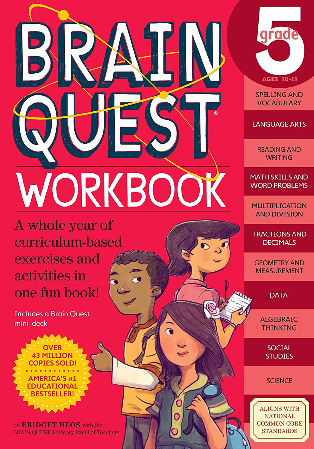 by Bridget Heos, Brain Quest Workbook: Grade 5 Paperback – May 5, 2015 (0761182780)(9780761182788)