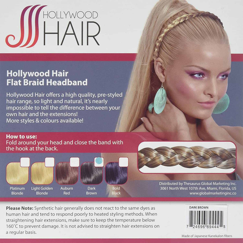 Amazon Hollywood Hair Flat Braided Hair Headband Blends In