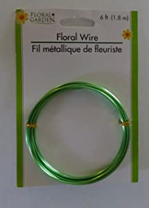 Floral Garden Floral Wire 6 ft Coil, Green