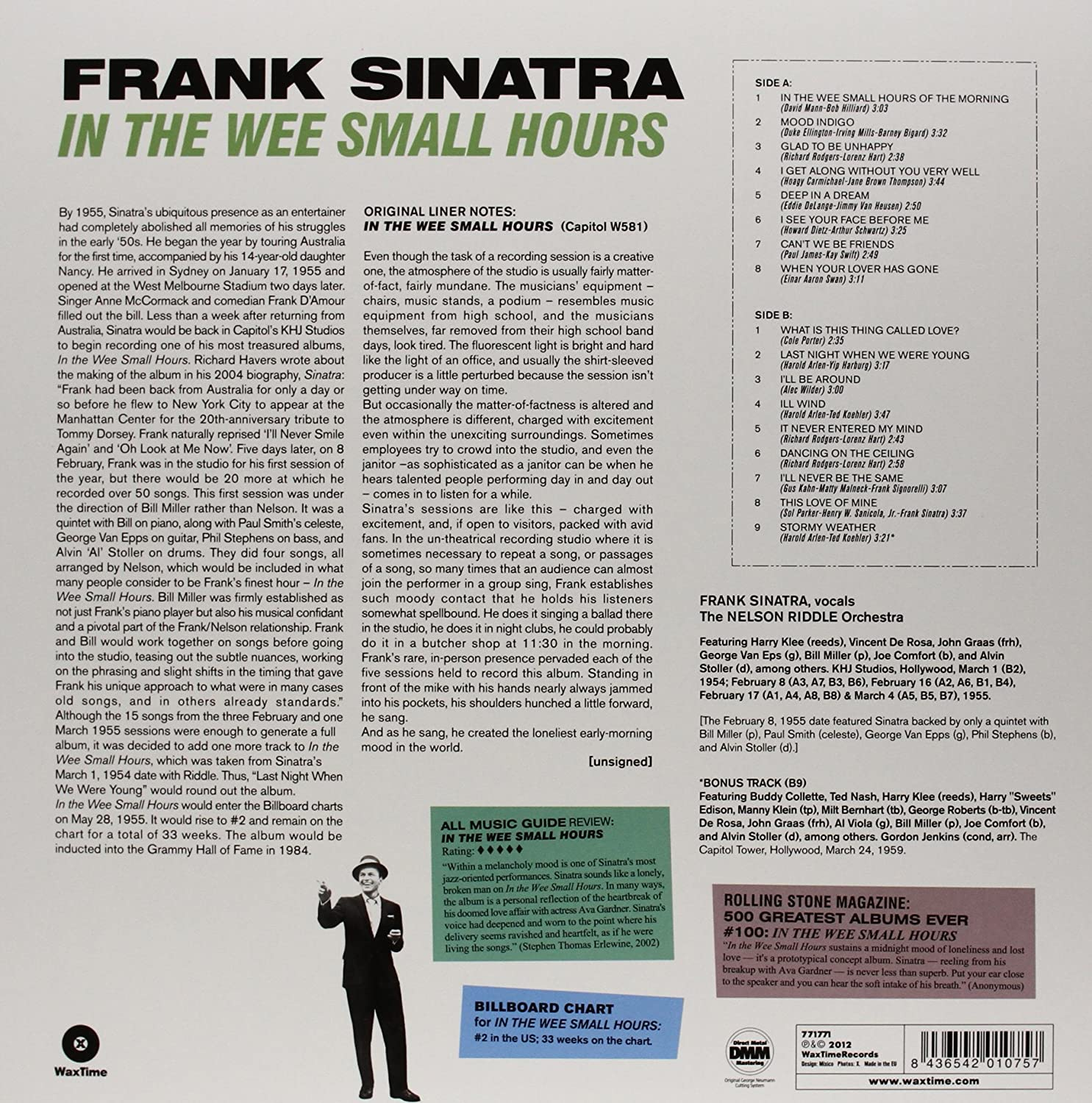 In the Wee Small Hours - 180 Gram : Frank Sinatra: Amazon.es: Música
