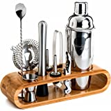 Mixology Bartender Kit: 10-Piece Bar Tool Set with Stylish Bamboo Stand | Perfect Home Bartending Kit and Martini…